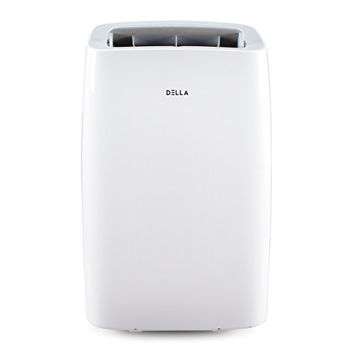 DELLA 10000 BTU Portable Air Conditioner AC with Self self Evaporation System Fan 80 Pint/Day Dehumidifier 450 Sq. Ft. Coverage Remote Control Wheels Window Kit Quiet Operation